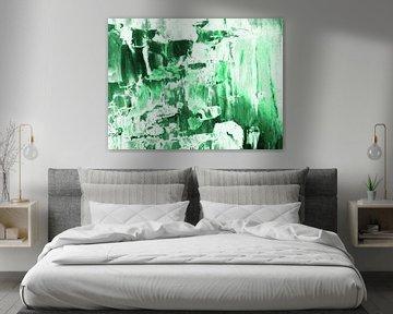 Abstrakt in Grün und Weiß V von Maurice Dawson