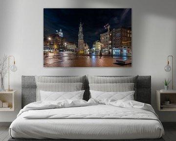 Avondklok in Amsterdam - Muntplein