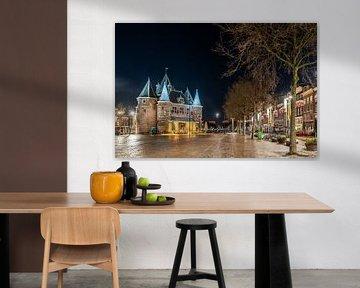 Avondklok in Amsterdam - Nieuwmarkt met De Waag