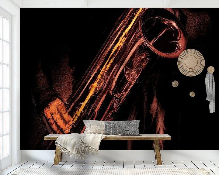 Sfeerimpressie behang: Hands on Music - 13 van Dick Jeukens