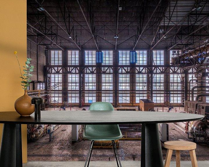 Beispiel fototapete: Symmetrie der Fenster der verlassenen Fabrik von Sven van der Kooi (kooifotografie)