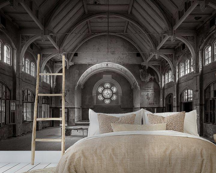 Beispiel fototapete: Verlassene Sporthalle in Beelitz von Frans Nijland