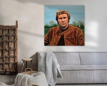 Steve McQueen Gemälde von Paul Meijering