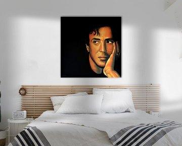Sylvester Stallone Gemälde von Paul Meijering