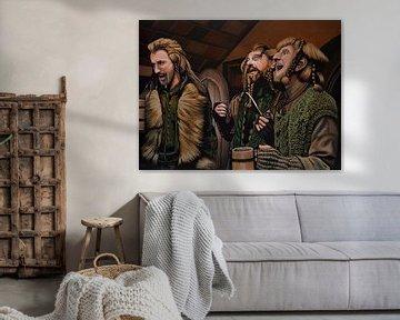 Les nains de la peinture du hobbit sur Paul Meijering