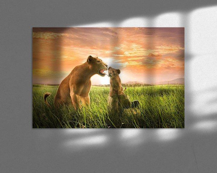 Sfeerimpressie: Leeuwin met welp van Arjen Roos