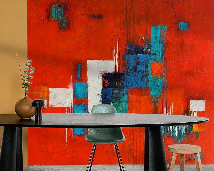Beispiel fototapete: Türkis auf Rot von Claudia Neubauer
