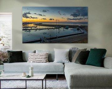 Wolkenspiegel Jachthaven Vlieland II van Gerard Koster Joenje (Vlieland, Amsterdam & Lelystad in beeld)