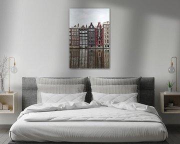 Blick auf den Damrak in Amsterdam von Henrike Schenk