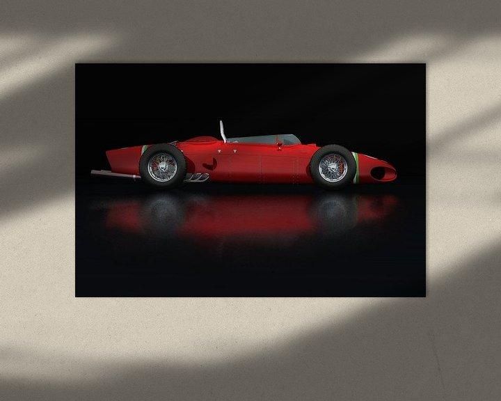 Sfeerimpressie: Ferrari 156 Shark Nose Zijaanzicht van Jan Keteleer
