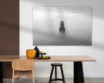 Peperbus im Nebel, Zwolle von Thomas Bartelds