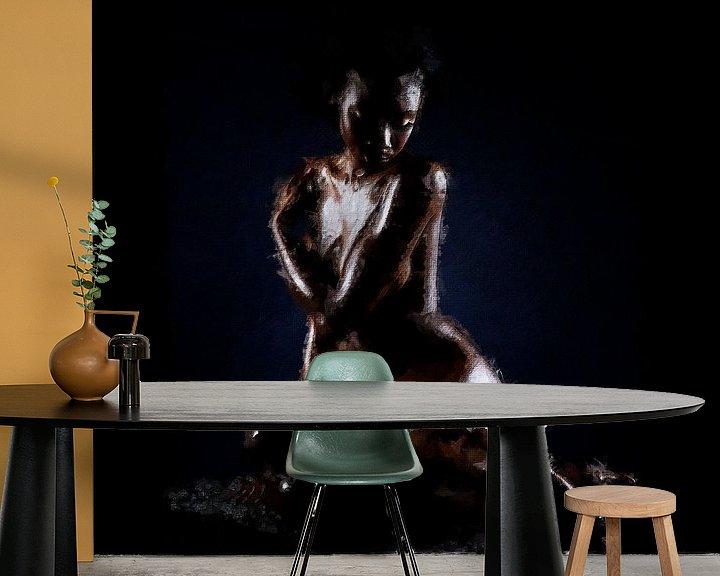 Beispiel fototapete: Schwarze Göttin (Gemälde) von Art by Jeronimo