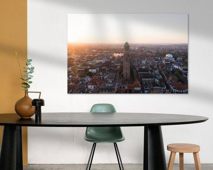 Sfeerimpressie: Zwolle van boven, Peperbus Zwolle centrum van Thomas Bartelds