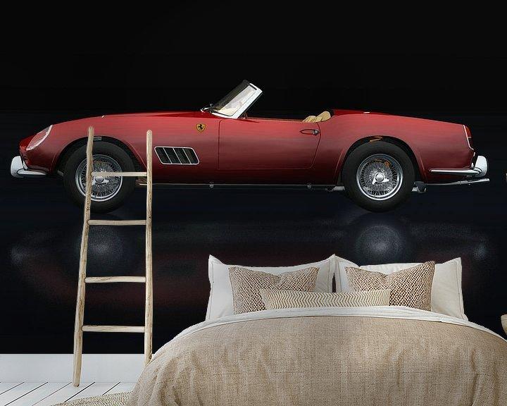 Sfeerimpressie behang: Ferrari 250 GT Spyder California 1960 Zijaanzicht van Jan Keteleer