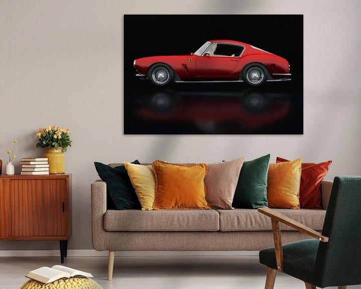 Sfeerimpressie: Ferrari 250 GT SWB Berlinetta Zijaanzicht van Jan Keteleer