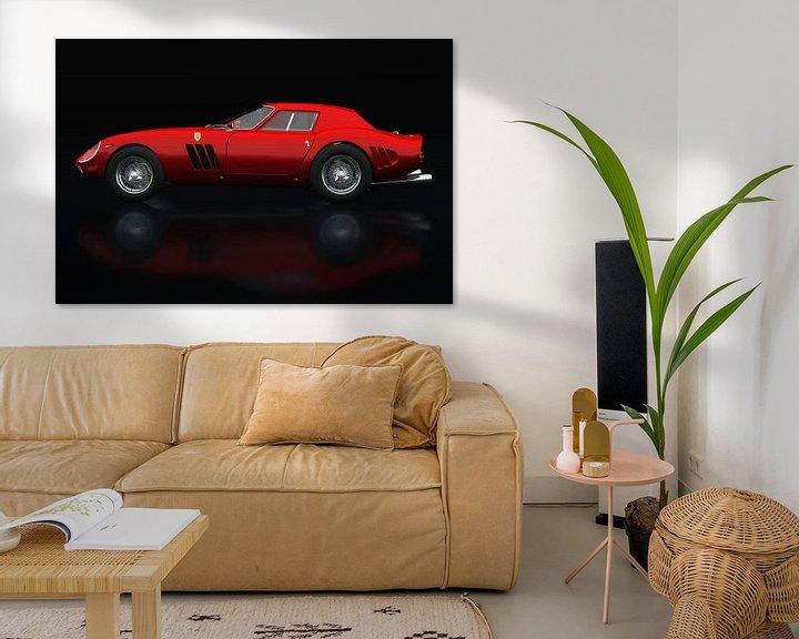 Sfeerimpressie: Ferrari 250 GTO Zijaanzicht van Jan Keteleer