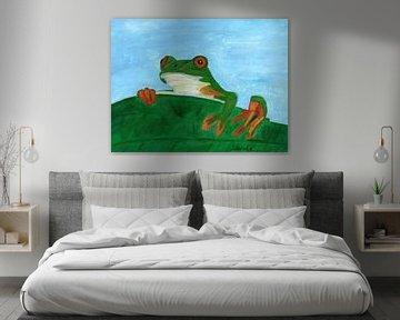 Der Laubfrosch von Sandra Steinke