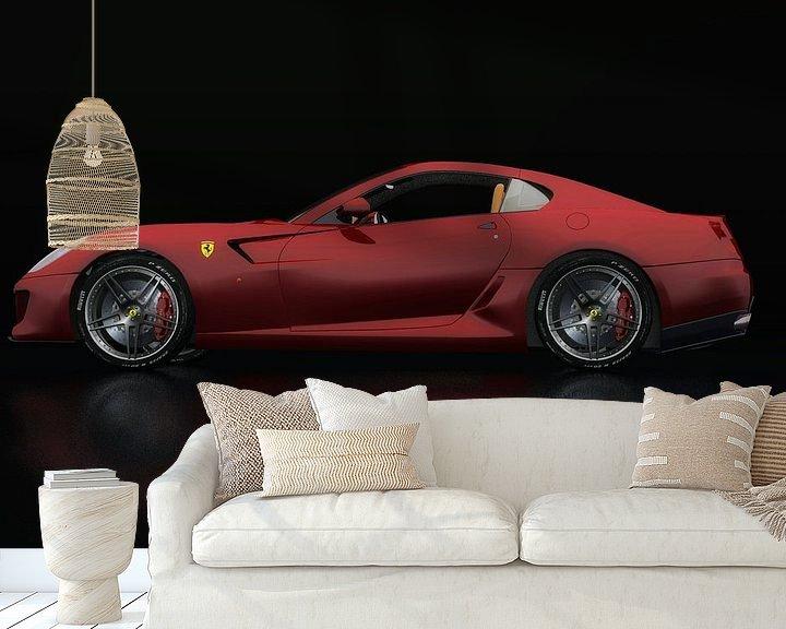Sfeerimpressie behang: Ferrari 599 GTB Fiorano Zijaanzicht van Jan Keteleer