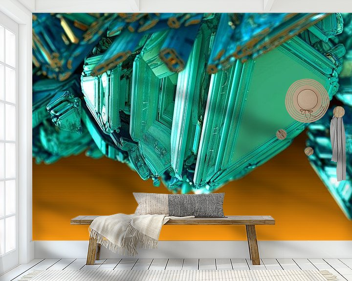 Sfeerimpressie behang: Fractal kristal van Frank Heinz