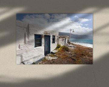 Altes verlassenes Haus auf der Insel la Graciosa auf Lanzarote von Peter de Kievith Fotografie