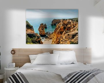 Strand Portugal van boven || Reisfotografie Algarve van Suzanne Spijkers