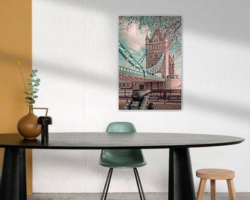 LONDON Tower Bridge im Detail | urbaner Vintage-Stil von Melanie Viola