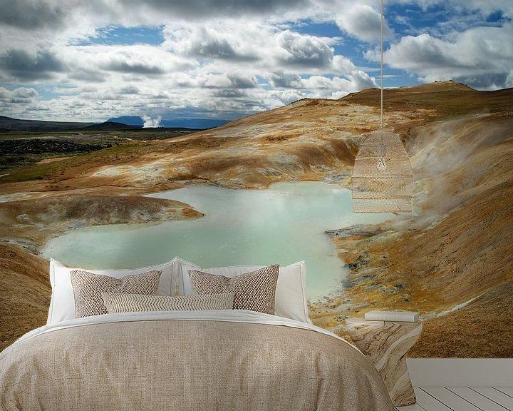 Sfeerimpressie behang: IJsland - vulkanisch landschap van Ralf Lehmann