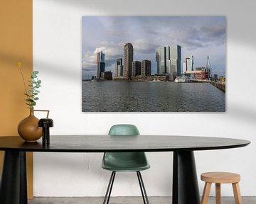 de Rotterdamse skyline kop van zuid, Nederland