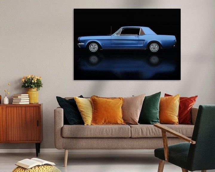 Sfeerimpressie: Ford Mustang GT Zijaanzicht van Jan Keteleer