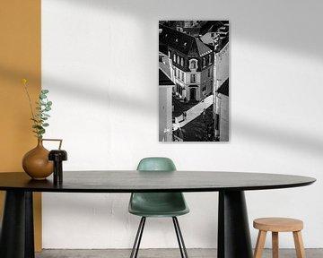 Schwarz-Weiß-Straßenfotografie Tallinn von Ellis Peeters