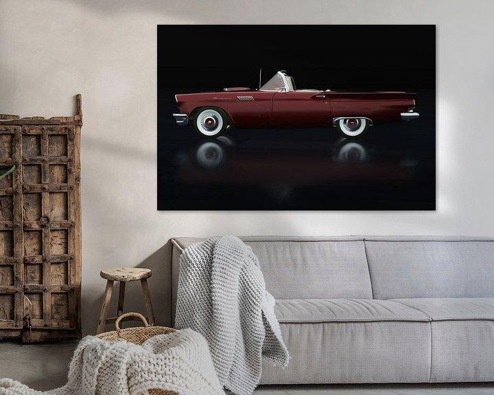 Sfeerimpressie: Ford Thunderbird Cabriolet Zijaanzicht van Jan Keteleer