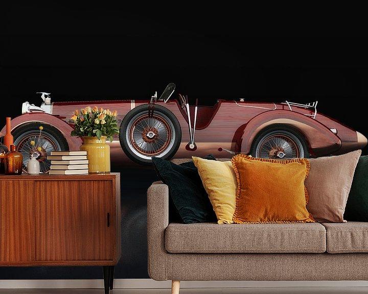 Sfeerimpressie behang: Hispano Suiza H6 Tulpenhout Zijaanzicht van Jan Keteleer