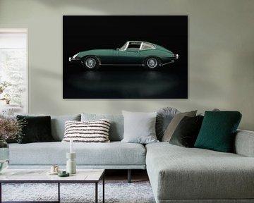 Jaguar E Type Vue latérale