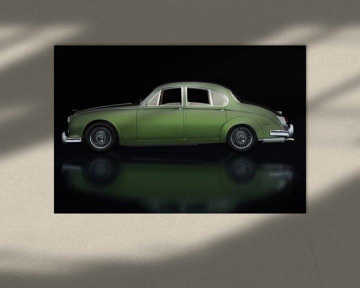 Sfeerimpressie: Jaguar MK-2 Zijaanzicht van Jan Keteleer