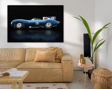 Jaguar Type D 1956 Zijaanzicht