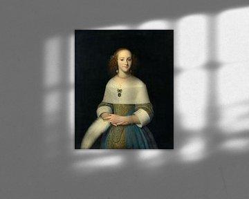 Portret van een jonge vrouw, Isaack Luttichuys - 1656
