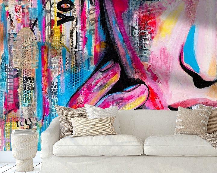 Sfeerimpressie behang: You van Janet Edens