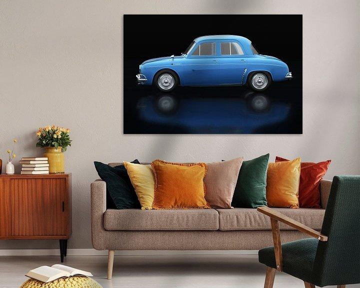 Sfeerimpressie: Renault Dauphine Gordini Zijaanzicht van Jan Keteleer
