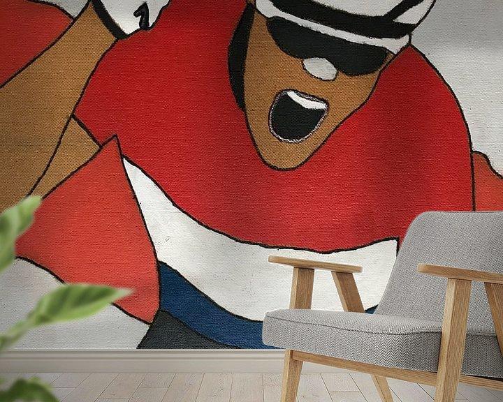 Sfeerimpressie behang: Tom Dumoulin van hou2use