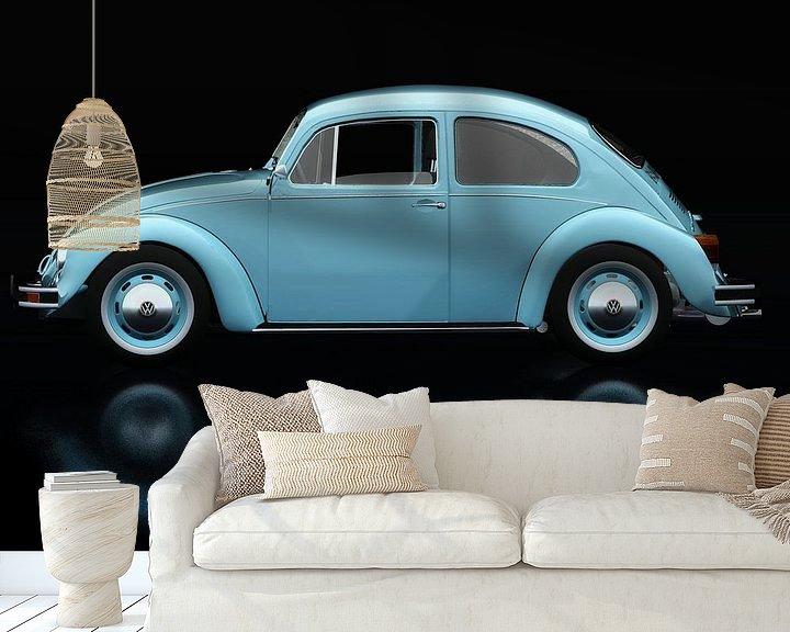Sfeerimpressie behang: Volkswagen Kever Zijaanzicht van Jan Keteleer