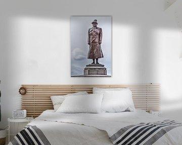 Standbeeld koningin Wilhelmina Noordwijk aan Zee Nederland van Hendrik-Jan Kornelis