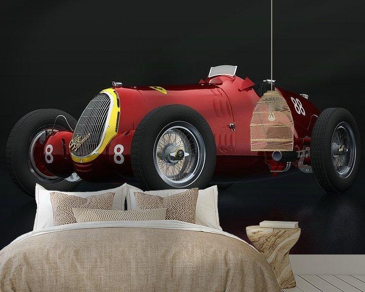 Sfeerimpressie behang: Alfa Romeo 8c driekwart zicht van Jan Keteleer