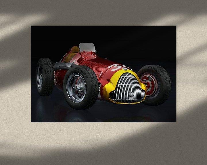 Sfeerimpressie: Alfa Romeo 158 Alfetta 1950 driekwart zicht van Jan Keteleer