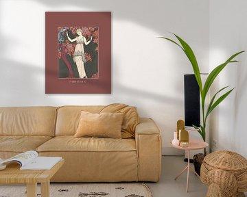 L'arbe de science - Vrouwelijke Art Deco Fashion print van NOONY