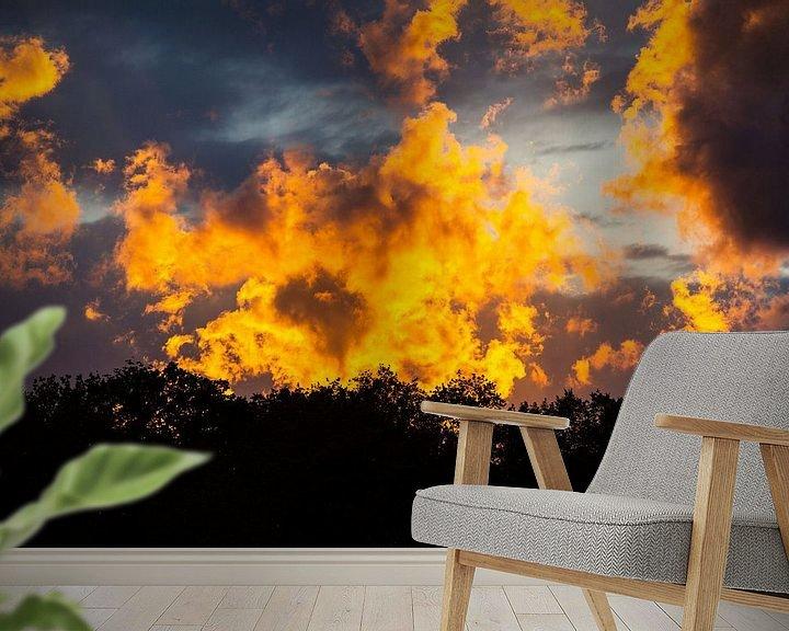 Beispiel fototapete: Naturschauspiel aus Abendsonne und Wolken von Rudolf Brandstätter