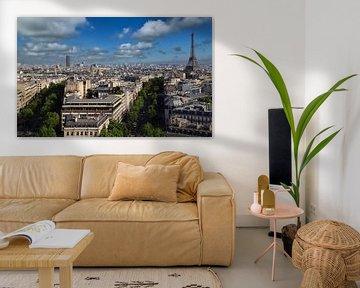 Stadtbild von Paris mit dem Eiffelturm von Jan Kranendonk