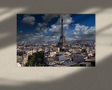 Cityscape  van Parijs met de Eiffeltoren van Jan Kranendonk