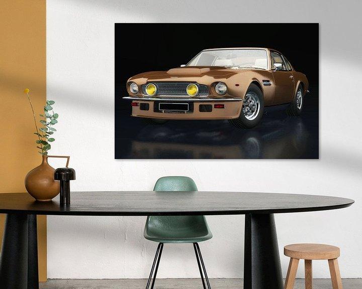 Sfeerimpressie: Aston Martin Vantage 1977 drie-kwart zicht van Jan Keteleer
