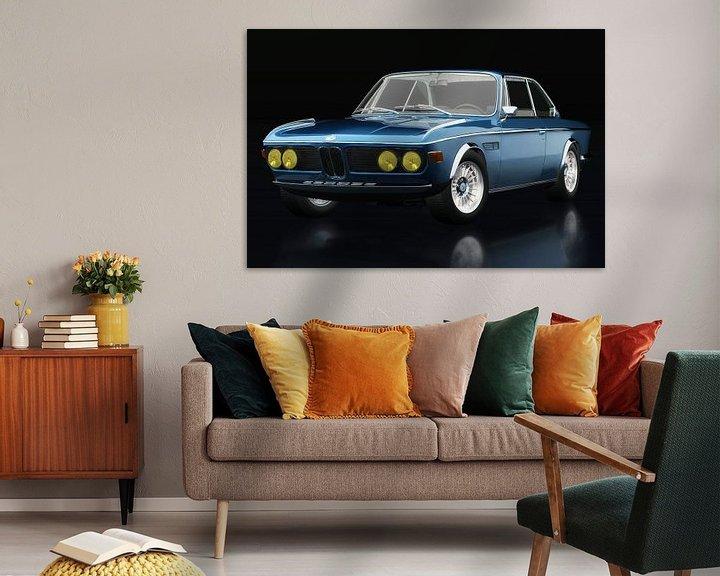 Sfeerimpressie: BMW 3.0 CSI 1971 driekwart zicht van Jan Keteleer