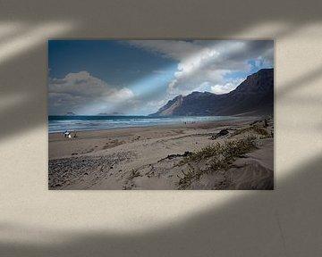 Atlantische kust van Lanzarote van t.ART